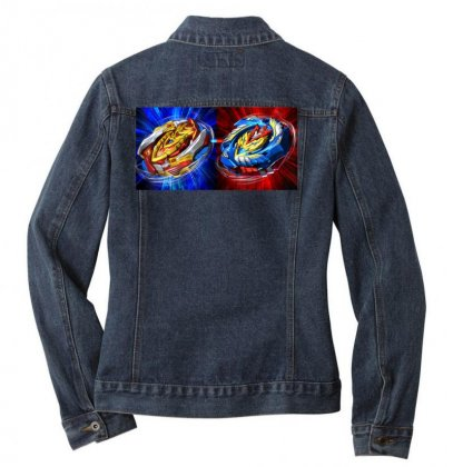Beyblade Burst Turbo Double Bey T Shirt Ladies Denim Jacket Designed By Cuser1744