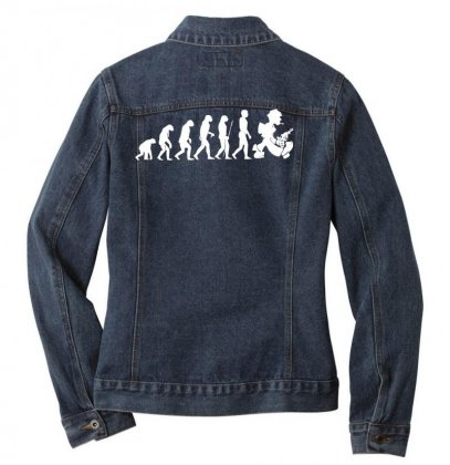 Evolution Nightwalker Night Walker Nacht Fun Art Colt Waffe Weapon Ladies Denim Jacket Designed By Nugraha