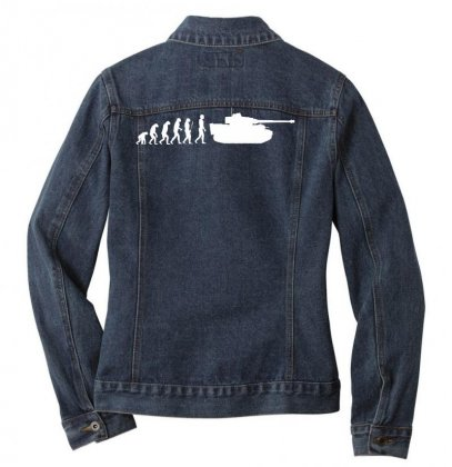 Evolution Vi Tiger 88 Mm Tank Wehrmacht Germany Ladies Denim Jacket Designed By Nugraha