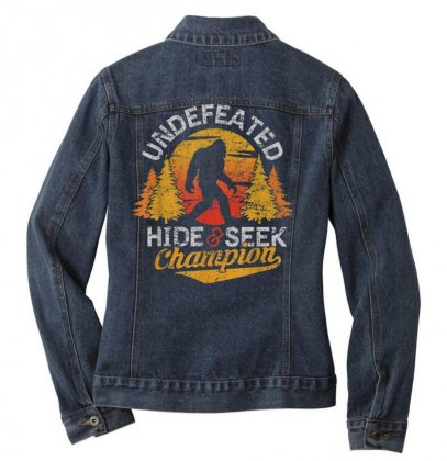 Bigfoot T Shirt Undefeated Hide And Seek Sasquatch Yeti Gift T Shirt Ladies Denim Jacket Designed By Cuser1744