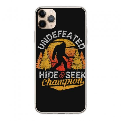 Bigfoot T Shirt Undefeated Hide And Seek Sasquatch Yeti Gift T Shirt Iphone 11 Pro Max Case Designed By Cuser1744