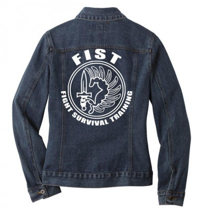 Fist Fight Survival Training French Legion Fun Ladies Denim Jacket Designed By Nugraha