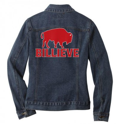 Billieve   Bills Mafia Buffalo Football Fan T Shirt T Shirt Ladies Denim Jacket Designed By Cuser1744