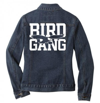 Bird Gang  Philadelphia Football Vintage Philly Eagle Gift T Shirt Ladies Denim Jacket Designed By Cuser1744