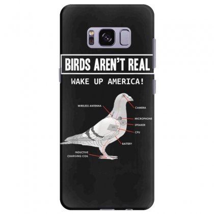 Birds Arent Real Gift T Shirt Samsung Galaxy S8 Plus Case Designed By Cuser1744