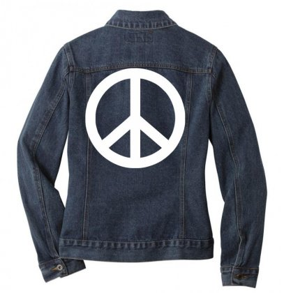 Fun Peace Friede Hippie Flower Power 60er 70er Woodstock Hendrix Ladies Denim Jacket Designed By Nugraha