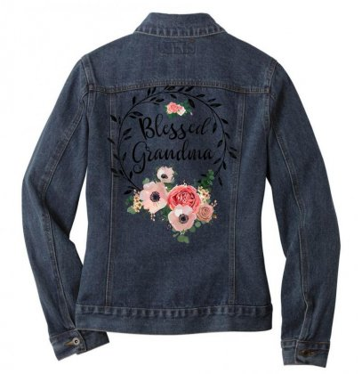 Blessed Grandma T Shirt With Floral, Heart Mother's Day Gift T Shirt Ladies Denim Jacket Designed By Cuser1744