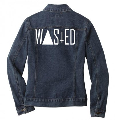Wasted Tee Ladies Denim Jacket Designed By Nugraha