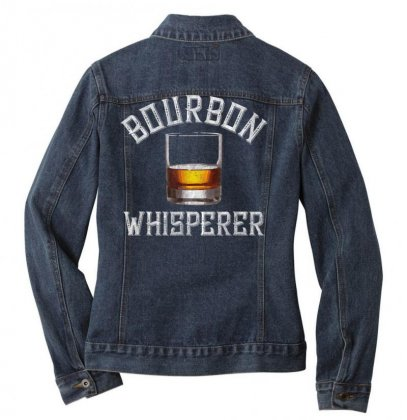 Bourbon Whisperer Funny Whiskey Gift With Sayings Drinking T Shirt Ladies Denim Jacket Designed By Cuser1744