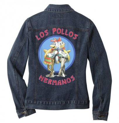 Breaking Bad Los Pollos Hermanos Back To Back Portrait Logo T Shirt Ladies Denim Jacket Designed By Cuser1744