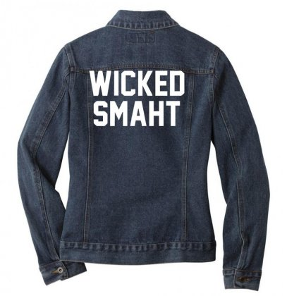 Wicked Smaht Funny Ladies Denim Jacket Designed By Nugraha