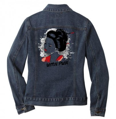 Wmn Pwr Women Power Ladies Denim Jacket Designed By Designisfun
