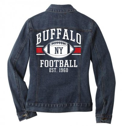 Buffalo Football  Vintage New York Bills Mafia Sports Gift T Shirt Ladies Denim Jacket Designed By Cuser1744