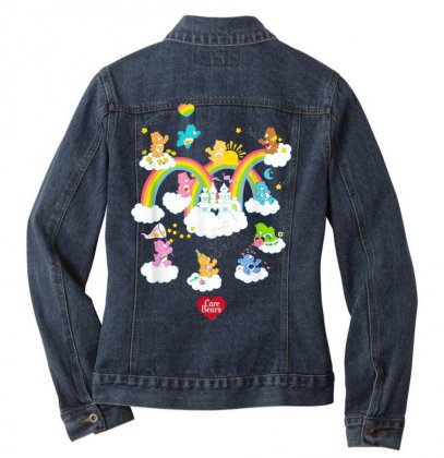 Care Bears In The Clouds T Shirt Ladies Denim Jacket Designed By Cuser1744