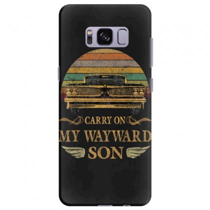 Carry On My Wayward Son Tshirt   Vintage Tee Shirt Gift T Shirt Samsung Galaxy S8 Plus Case Designed By Cuser1744