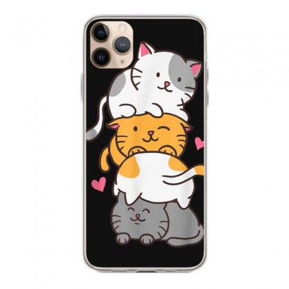 Cat Cats Meowtain Cute Kitty Pile Anime Kawaii Neko Gift T Shirt Iphone 11 Pro Max Case Designed By Cuser1744