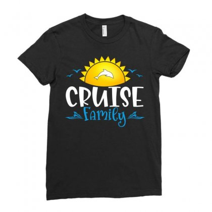 Cruise Family Ladies Fitted T-shirt Designed By Badaudesign
