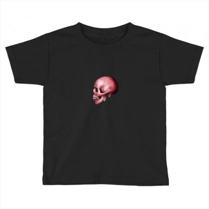 Pink Skull Toddler T-shirt Designed By Preeproject