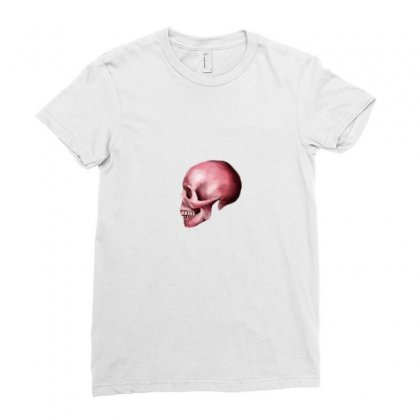 Pink Skull Ladies Fitted T-shirt Designed By Preeproject
