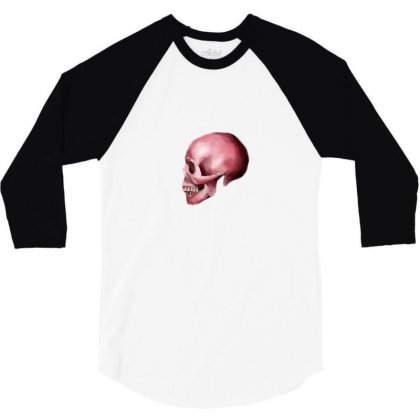 Pink Skull 3/4 Sleeve Shirt Designed By Preeproject