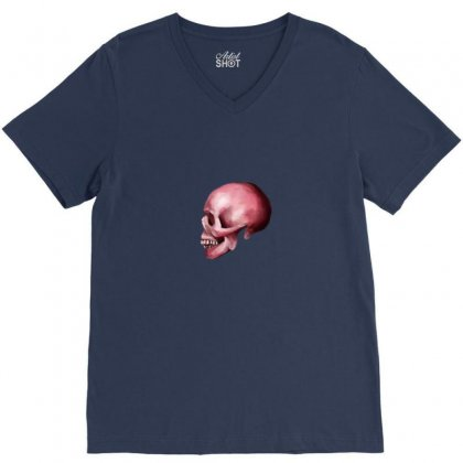 Pink Skull V-neck Tee Designed By Preeproject