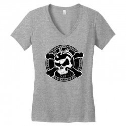 cross skull Women's V-Neck T-Shirt | Artistshot