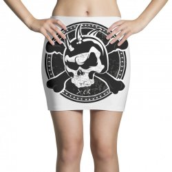 cross skull Mini Skirts | Artistshot
