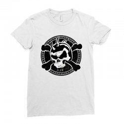 cross skull Ladies Fitted T-Shirt | Artistshot