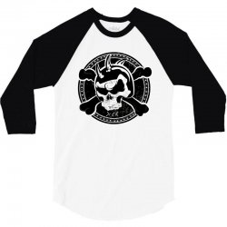 cross skull 3/4 Sleeve Shirt | Artistshot