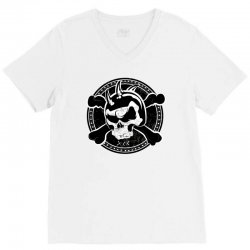 cross skull V-Neck Tee | Artistshot