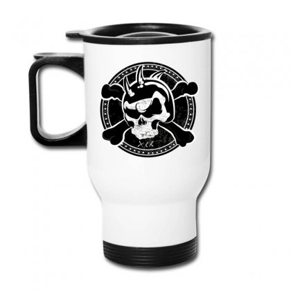 Cross Skull Travel Mug Designed By Designsbymallika