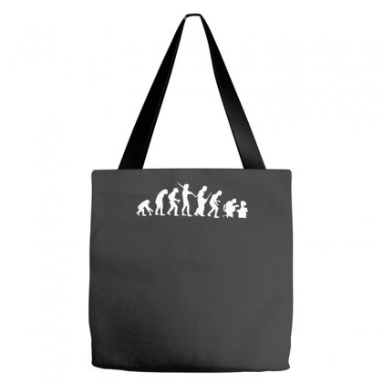 Evolution Of A Geek Computer Tote Bags Designed By Nugraha