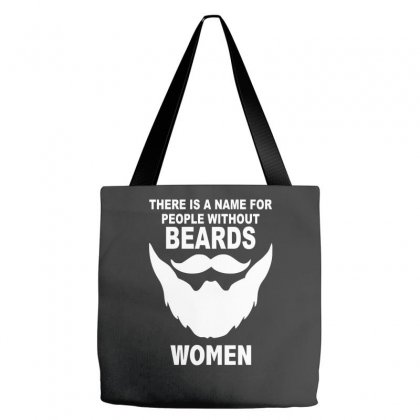 Funny Beards Printed Tote Bags Designed By Nugraha