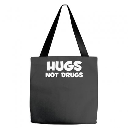 Hugs Not Drugs Funny Printed Tote Bags Designed By Nugraha