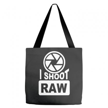 I Shoot Raw Photography Camera Photograph Tote Bags Designed By Nugraha