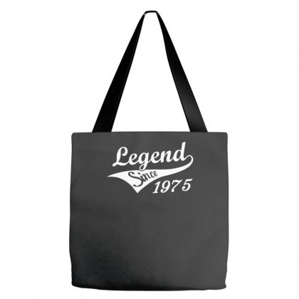Legend Since 1975   Mens Funny 40th Birthday Funny Tote Bags Designed By Nugraha