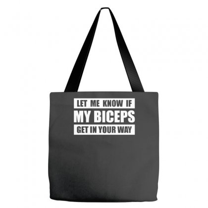 My Biceps Funny Printed Tote Bags Designed By Nugraha