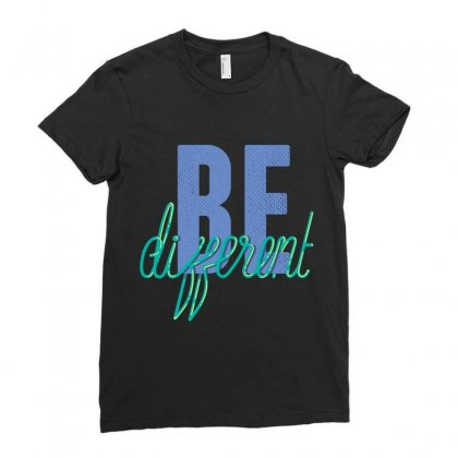Be Different Ladies Fitted T-shirt Designed By Perfect Designers