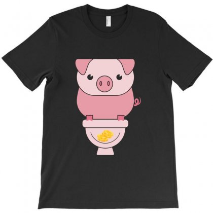 Piggy Bank Poop Money T-shirt Designed By Perfect Designers