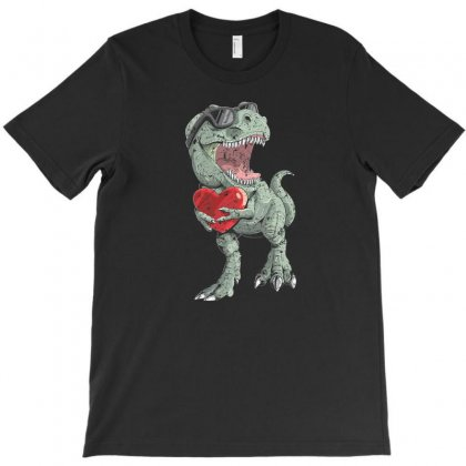 Valentines Day Shirt For Women, Men With Cool T Rex Dinosaur T-shirt Designed By Ursulart