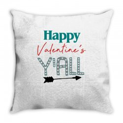 Happy Valentine's Y'all For Light Throw Pillow Designed By Sengul