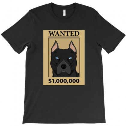 Wanted Pitbull T-shirt Designed By Emardesign