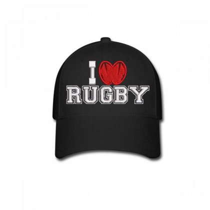 I Love Rugby Baseball Cap Designed By Madhatter