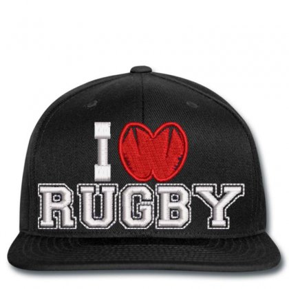 I Love Rugby Snapback Designed By Madhatter