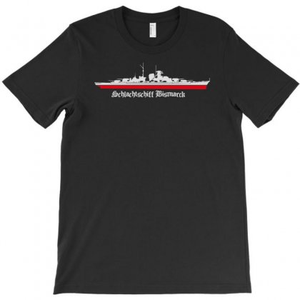 Bismarck Schlachtschiff War Ship Flotte World War Marine Meer Sea T-shirt Designed By Ririn