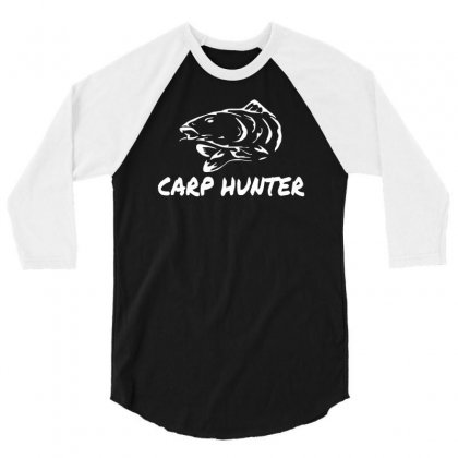 Carp Hunter Pike Angler Fishing New 3/4 Sleeve Shirt Designed By Ririn