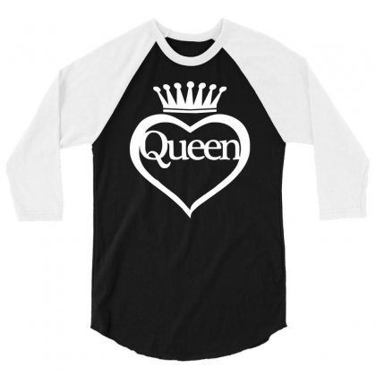 Funny  Queen Of Everything Gift Bride Honeymoon Hen Night Fashion Fema 3/4 Sleeve Shirt Designed By Ririn
