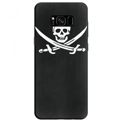 Pirate Skull Sword Music Band Metal Biker Guitar Tee New Samsung Galaxy S8 Case Designed By Ririn
