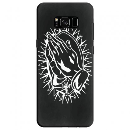 Praying Hands Cross Mary Rock Band Baseball Jersey Samsung Galaxy S8 Case Designed By Ririn