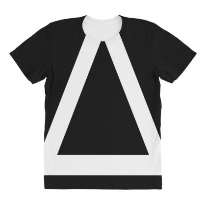 Prism A Triangle Design Graphic Baseball Jersey All Over Women's T-shirt Designed By Ririn